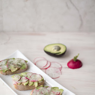 Radish, Avocado And Herbed Goat Cheese Baguette