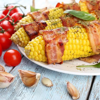 Grilled Corn on the Cob with Bacon