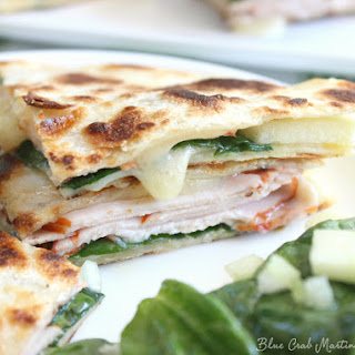 Turkey Apple Brie Quesadillas