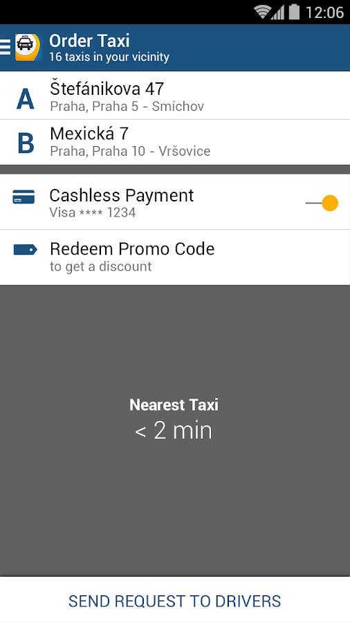 Liftago Taxi- screenshot