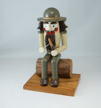 "Photo: Bob Anderson 6"" x 11"" nutcracker [painted mahogany and walnut]"