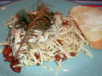Fresh Rosemary Chicken With Pesto Pasta! Recipe