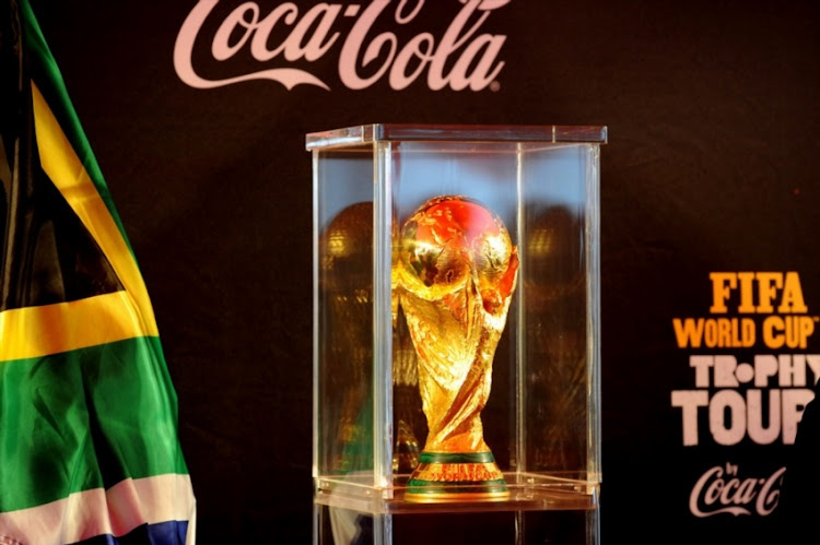 A view of the World Cup Trophy during the FIFA World Cup Trophy Tour by Coca Cola on June 01, 2010, in Witbank, South Africa.
