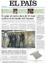Photo: El golpe al núcleo duro de El Asad acelera el derrumbe del régimen sirio; España podrá recurrir al dinero del rescate para comprar deuda y el Código Penal permitirá vigilar durante 10 años a los exconvictos más peligrosos, en portada de la edición nacional del jueves 19 de julio de 2012 http://srv00.epimg.net/pdf/elpais/1aPagina/2012/07/ep-20120719.pdf
