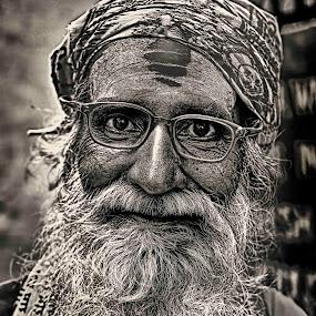 Sadhu by Arup Acharjee - People Portraits of Men