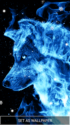Ice Wolf 3d Wallpaper Download Download Ice Fire Wolf Wallpaper Google Play Softwares