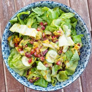 Avocado Pomegranate Salad.