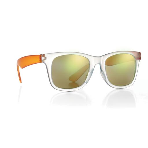 Blue mirror lens sunglasses