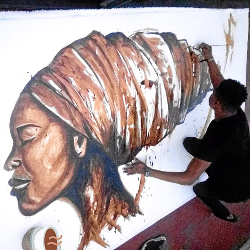 Women's champion: Artist Ennock Mlangeni from Sasolburg uses art to change perspectives about women. Picture: FACEBOOK
