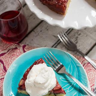Strawberry Basil Upside Down Cake