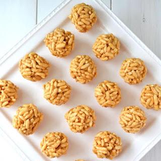 No Bake Peanut Butter Puff Balls