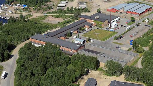 Ilmakuva Kantonlan Teollisuuskiinteistöistä Hämeenlinnassa.