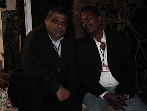 Photo: Arun F and Bhagee again - they were talking about how they can divorce each other!