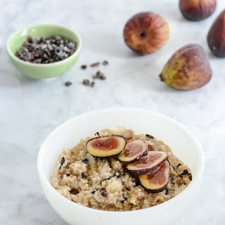 Steel Cut Oatmeal with Figs Almond Cacao
