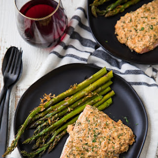 Garlic Parmesan Salmon and Asparagus Recipe