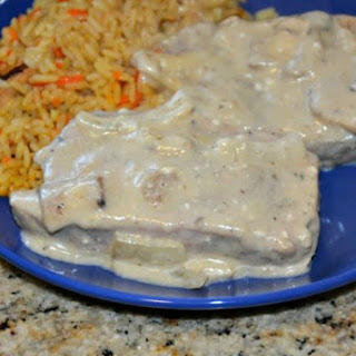 Slow Cooker Creamy Italian Pork Chops or Chicken.