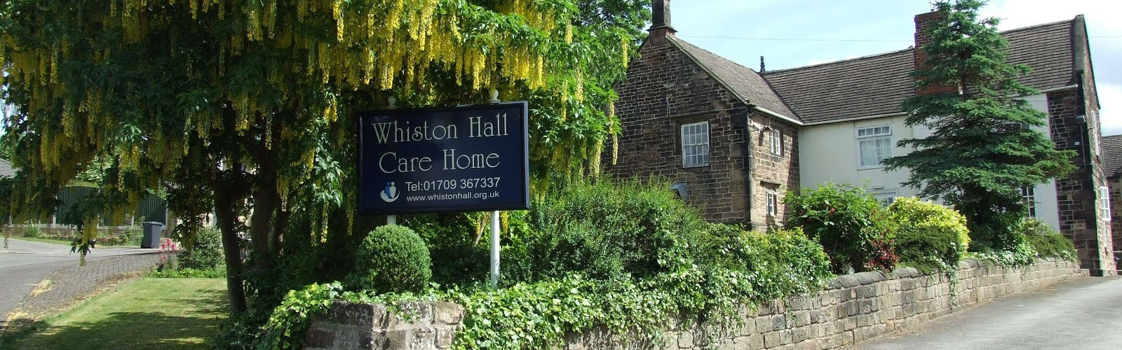 the front door and entrance to whiston hall