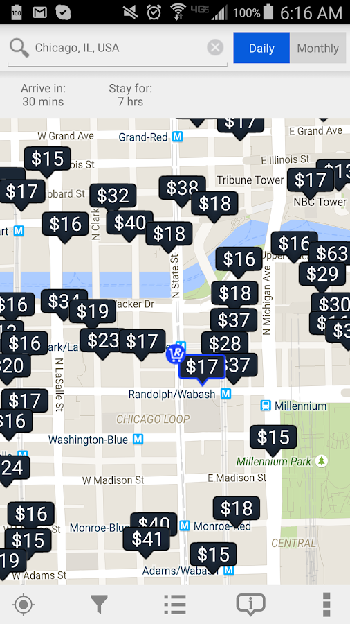 Chicago Parking Map (PILMC)- screenshot