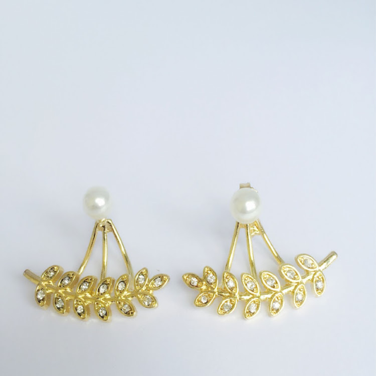 E046 - G. Lady of the Leaf Ear Jacket Earrings by House of LaBelleD.