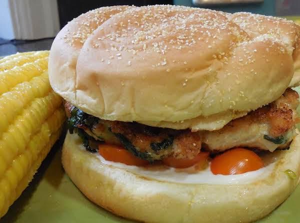 Chicken & Spinach Burgers Recipe