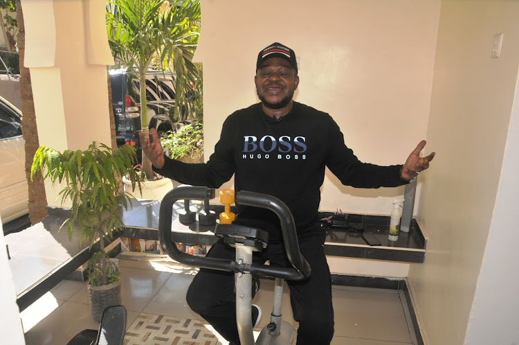 Jomvu MP Badi Twalib at his home gym on Saturday.