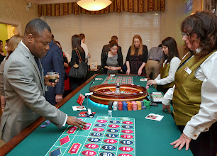 Photo: Miche Jean (Suffolk Law School) tried his luck at roulette.