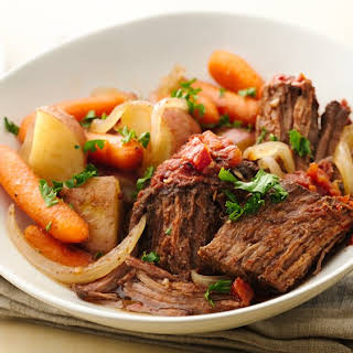Easy Slow-Cooker Fire Roasted Pot Roast.