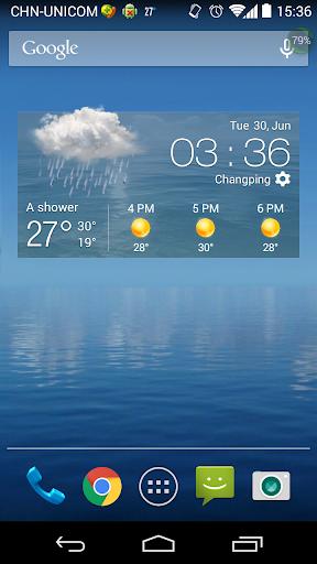 3天天氣預報,小時天氣預報,準確預報,簡潔精緻小工具