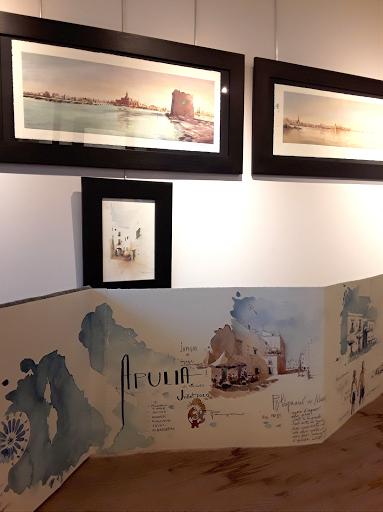 expo aquarelles  Jeanne PAPA_ Apulia, terres de lumières_ 2020