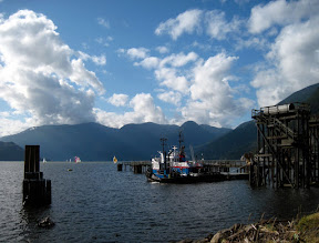 Photo: Another photo from my Sunday lunch trip to Squamish. Apparently there was a sailboat race going on ;)