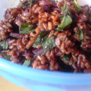 Red Rice With Beetroot Leaves