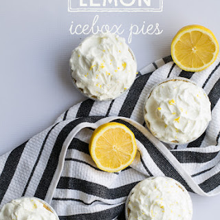Mini Lemon Icebox Pies.