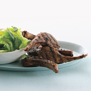Lebanese Lamb Chops with Lemony Lettuce