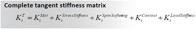 ANSYS Составляющие матрицы касательной жесткости