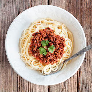 Slow Cooked Spaghetti Bolognese.