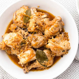 Pressure Cooker Chicken Adobo and Rice.