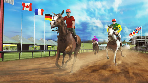 Horse Racing Games 2020: Derby Riding Race 3d apkpoly screenshots 12