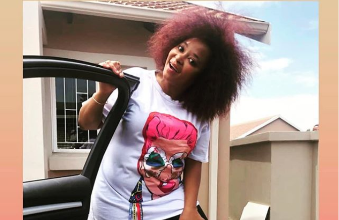 Pebetsi Matlaila shared a hilarious moment with her IG followers.