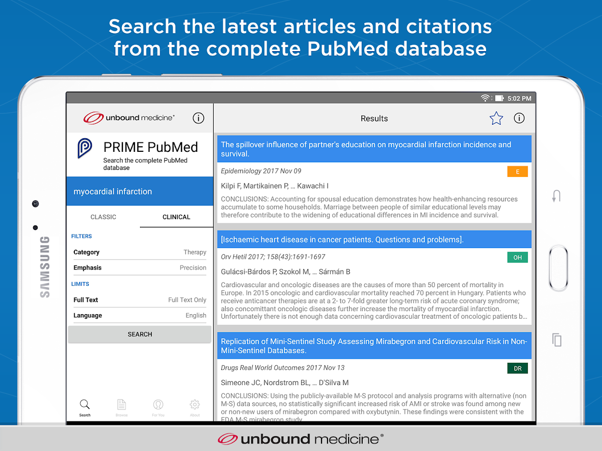 Prime: PubMed Journals & Tools- screenshot