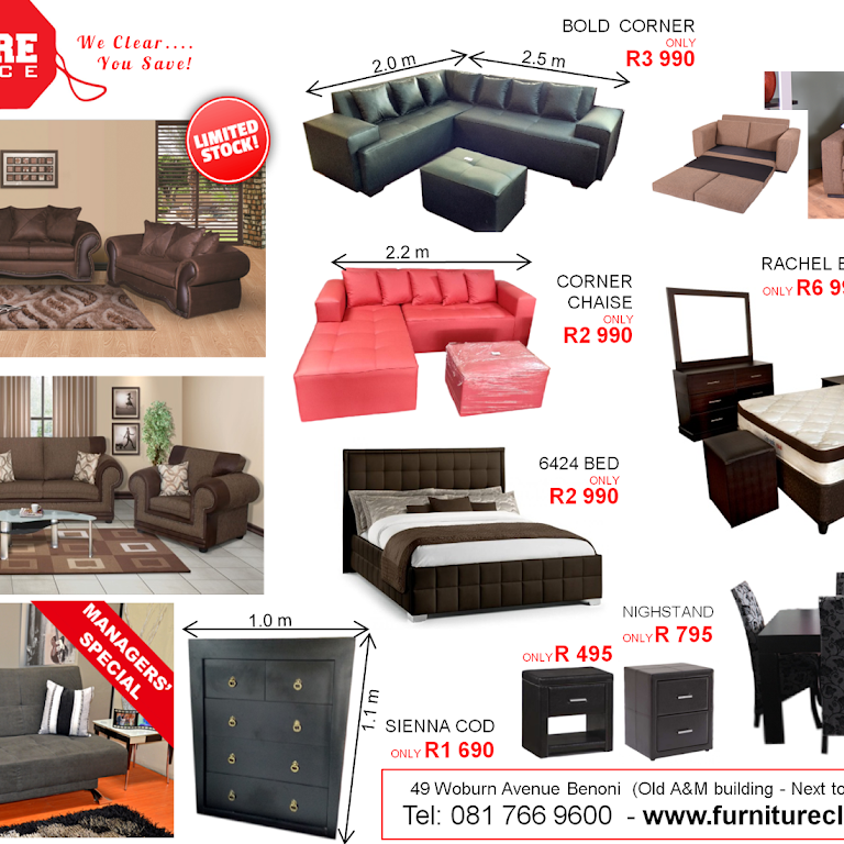 Furniture Clearance Warehouse Home In Benoni