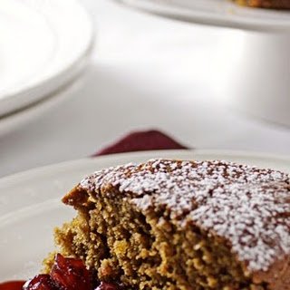 Ginger Spice Cake with Warm Cranberries