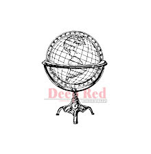 Deep Red Cling Stamp 1.4X2 - Antique Globe UTGÅENDE