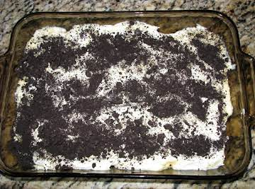 Oreo Dirt Pudding with real whipping cream