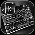 Black Metal Keyboard Background icon