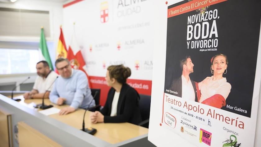 Presentación  de la obra 'Noviazgo, Boda y Divorcio' en la sala de Plaza Vieja