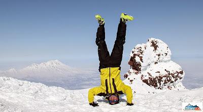 Photo: Palic on the top of volcanon Koryaksky (3456 m)