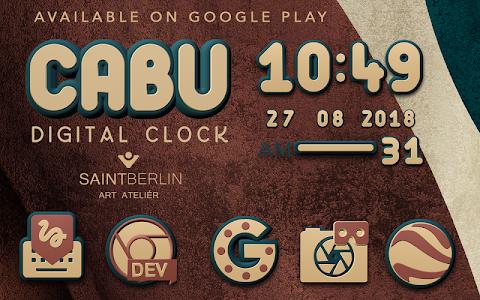 Cabu Clock Widget v2.51