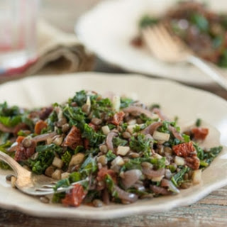 Warm Kale and Lentil Salad with Sun-Dried Tomatoes.