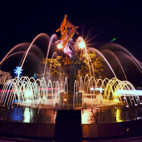 by R Siswanty - City,  Street & Park  Fountains