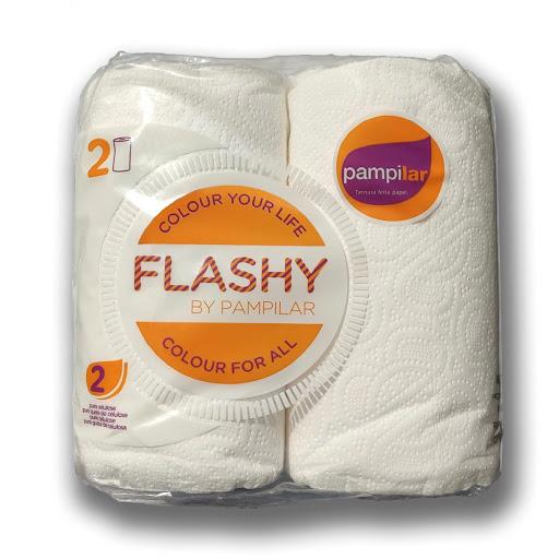 papel de cocina flashy pampilar 2 rollos